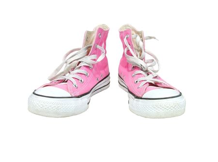 Dirty pink shoes Banque d'images