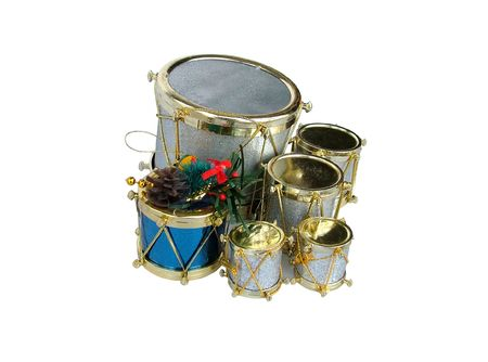 plastic christmas tree: Drums Xmas ornament