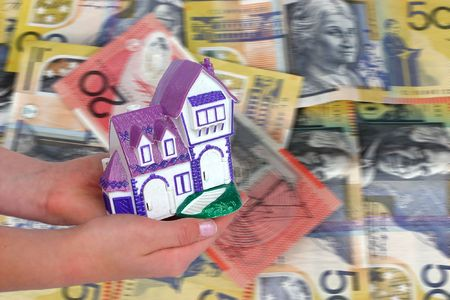home loan concept australian currency photo