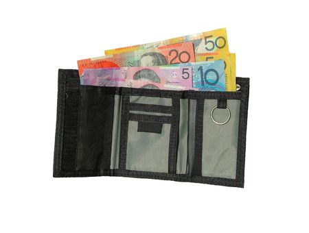 monies: Wallet Australian money Stock Photo