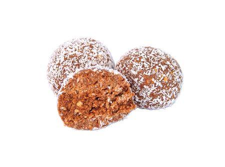 trufas de chocolate: Ron bolas  trufas de chocolate  Foto de archivo