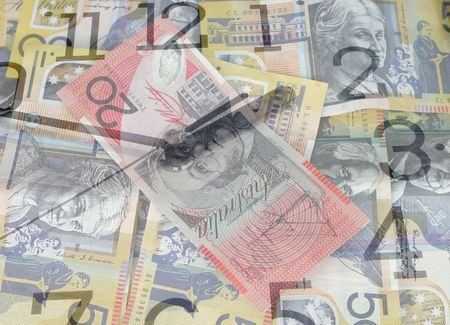 Time is money Australian currency photo