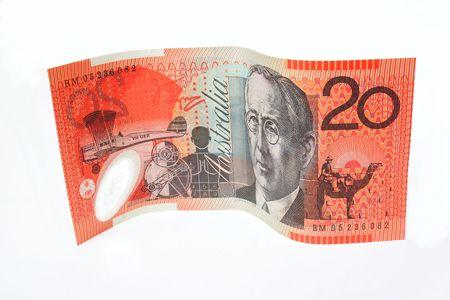 spending money: Australian $20 bill Stock Photo