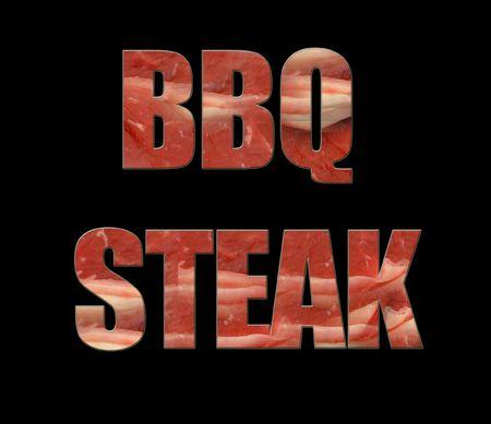 scrap trade: BBQ bistecca, modello  Archivio Fotografico