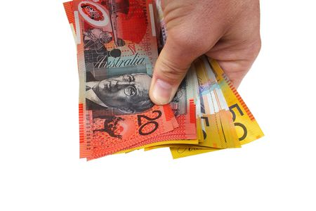 Holding Australian money