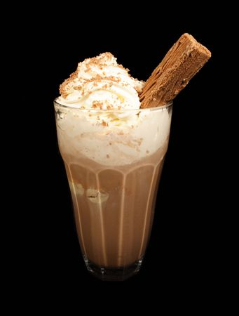 Ice chocolate drink photo