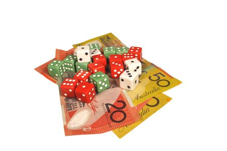 Australian money and dices photo