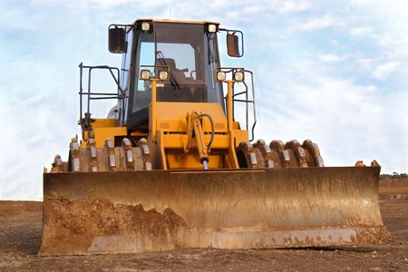 earth mover: Yellow earth mover