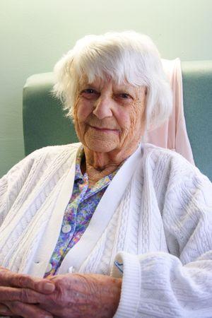 old year: un anziano di 94 anni Archivio Fotografico