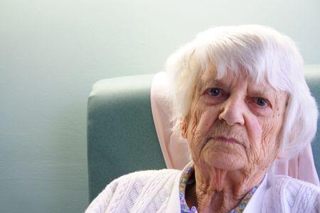 94 year old senior citizen portrait Banque d'images