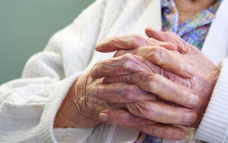 Old wrinkle hands Banque d'images