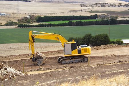earth mover: Earth mover in country