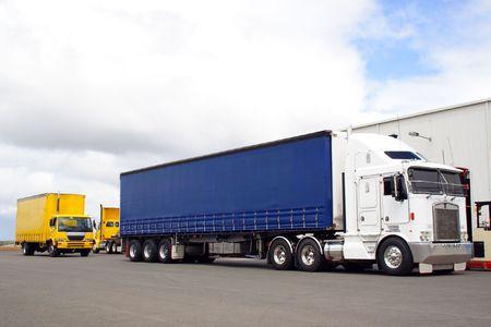 Busy truck yard