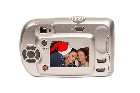 Christmas camera with mum and kids