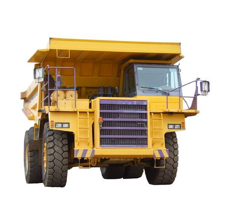 earth moving: Mining truck isolated