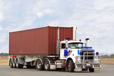 Semi truck photo