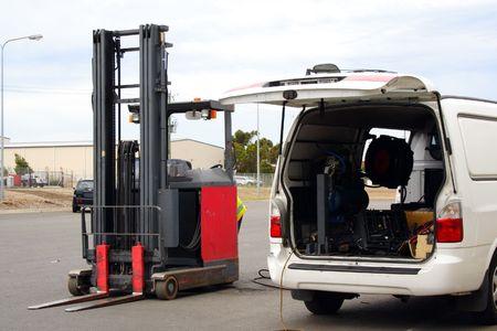 vans: Forklift repair van