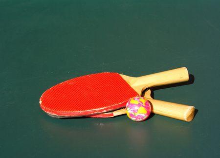 ping pong: Ping pong bats and ball
