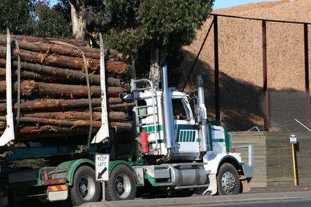 Semi log truck Stock Photo - 1462762