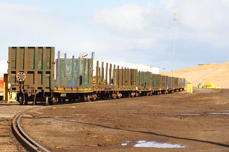 wood railroads: Train carriages for transport of logs