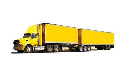 semi trailer: Articulated semi truck