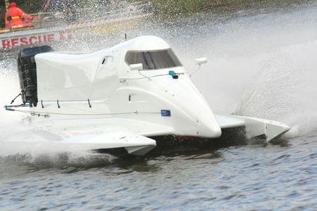 speedboats: White speed boat