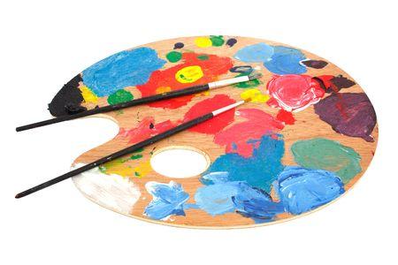 palet: Pinceles y paleta