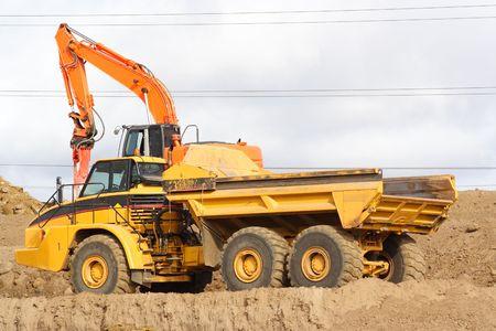 dozer: Large dump truck