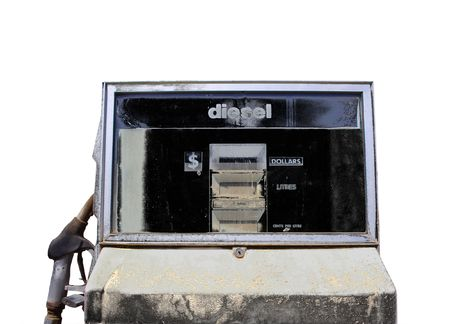 decayed: Old decayed petrol pump