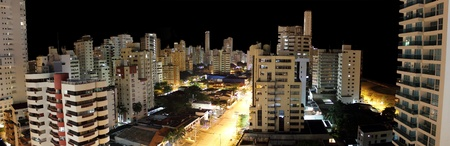 City of Cartagena Colombia at night