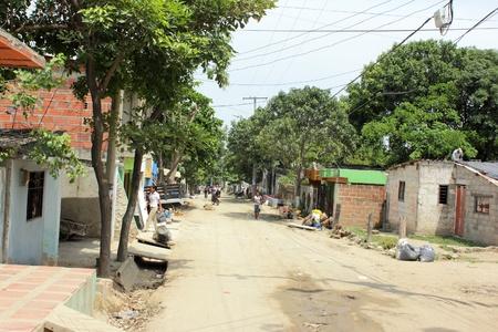 marta: SANTA MARTA, COLOMBIA - June 6: A typical street in a poor area down town Santa Marta June 6, 2011 in Santa Marta Colombia