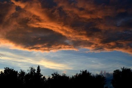 amazing menacing clouds Stock Photo