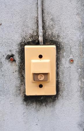 buzzer: Electric The buzzer switch Stock Photo