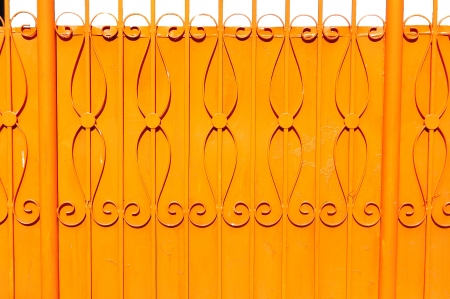 orange metal fence  Stock Photo - 20916135