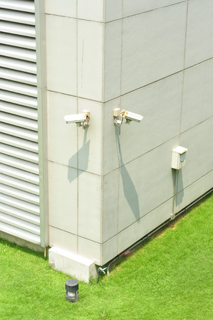 installed  CCTV camera  as building coner Stock Photo - 27155933