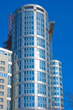accrue: Modern a building accrue in height