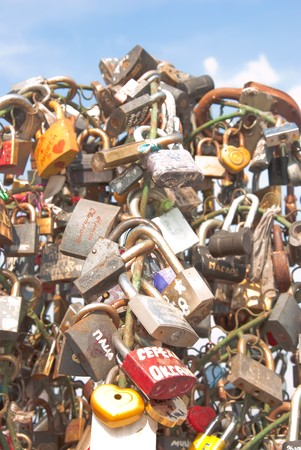 certitude: Tree from locks, as a symbol of the relations fastened by marriage