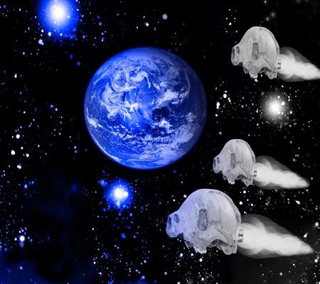 Bone spaceships photo