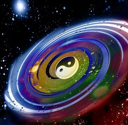 taoisme: Universum van fengshui  Stockfoto