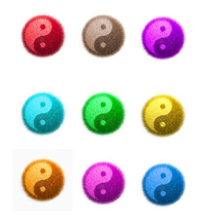 Yin Yang fluffy ball Stock Photo - 8431483