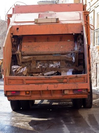 sack truck: Garbage Vehicle Stock Photo