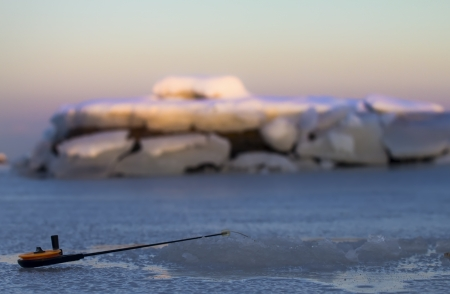 first days of winter fishing of this year Stock Photo - 16884642