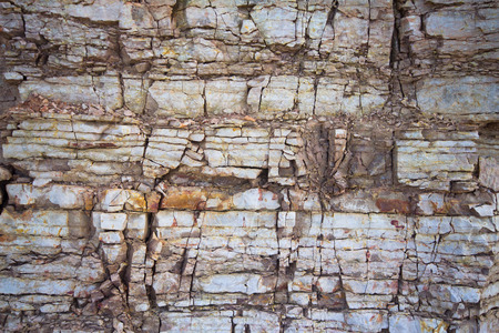 calcareous: surface of a Devonian calcareous platform Stock Photo