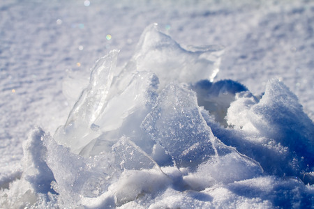 split level: sea ice close up in the winter Stock Photo