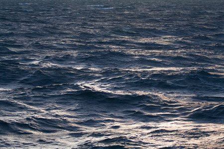 waves pattern: quiet North Sea in the summer Stock Photo