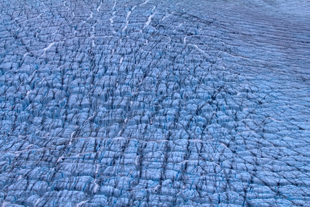 fissures: galacier fissures. North island, Novaya Zemlya. Kara Sea, Siberia