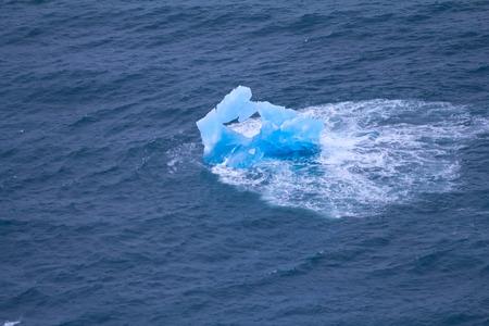 splinters: Glacier splinters aground. Arctic Northern island Novaya Zemlya
