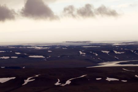 shove: glacier edge, shove moraine and spillway. North island, Novaya Zemlya. Siberia Stock Photo