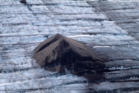 north island: galacier fissures. North island, Novaya Zemlya. Kara Sea, Siberia