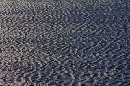 frequent: sea surface covered with regular wave crests, forming harmonious picture, Arctic ocean